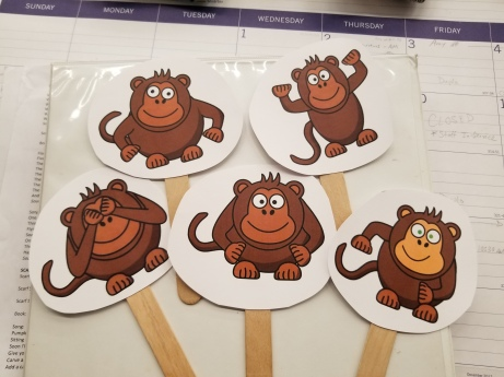 Monkey craft sticks