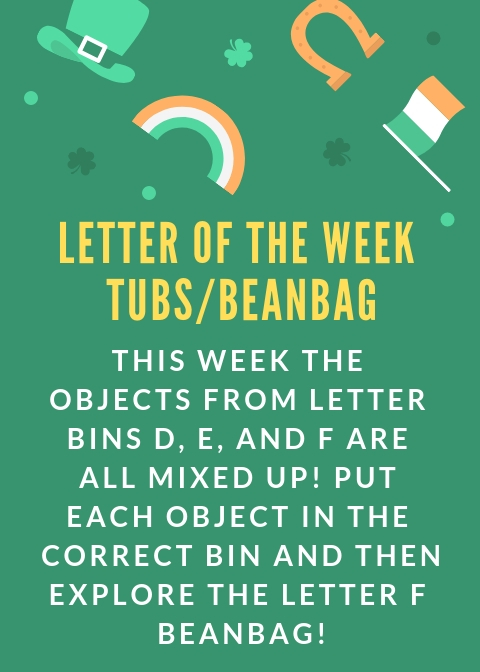 letter of the week tubs
