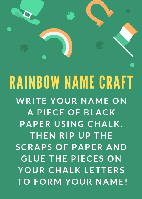 rainbow name craft